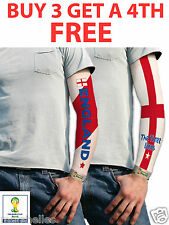 ENGLAND AND ST GEORGE TATTOO SLEEVES FLAG OFFICIAL FIFA FOOTBALL SUPPORTERS FLAG