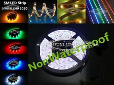 5Meter SMD 5050 Flexible Non-waterproof LED Light Strip 12V Multi-color 300 LEDs
