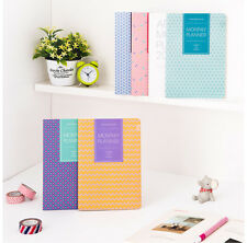 2015 Pattern Dated Monthly Planner Scheduler Journal Diary 4 type