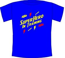 Super Hero in Training Cool Kids T-shirt for action loving children Ages 1-12