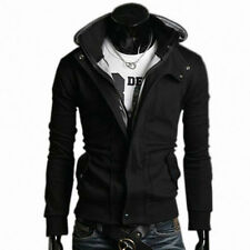 Men's New Fashion Slim Fit Sexy Hoody Jackets With Zip Through and Contrast Hood