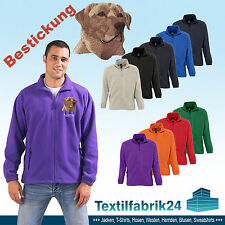 Fleece Jacket Embroidered With Labrador Lab Dog + Desired Text, Great Gift Idea