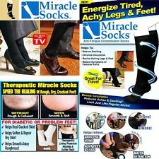 MIRACLE SOCKS UNISEX COMPRESSION SOCKS ANTI-FATIGUE AS SEEN ON TV USA SELLER