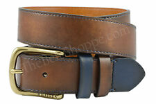 Tommy Hilfiger Brown Smooth Leather Belt w/Contrast Loop & Keeper - Sz 32 - 44