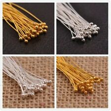 Wholesale Silver/Gold Plated Ball Pins Beading Needles Jewelry Finding 8 Size