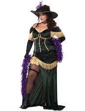 Plus Size Saloon Madame Costume Western Fancy Dress Can Can Showgirl Outfit