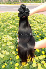 Peruvian hair straight extensions 4 bundles weave virgin human hair black weft