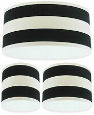 Lampshade Handmade with Black and White Deck Chair Stripe Fabric VARIOUS SIZES