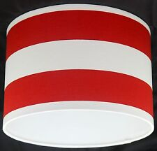 Lampshade Handmade with Red and White Deck Chair Stripe Fabric VARIOUS SIZES