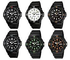 Casio MRW200H Men's Black Resin 100M Diver Sports watch with Day and Date