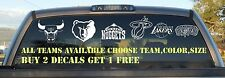 NBA All Teams Logo Vinyl Decal Sticker You Choose Team,Color & Size buy2get1free