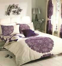 Gaveno Cavailia Design Duvet Set Manhatten Cream/Aubergine Single,Double,King