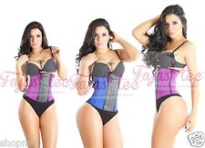 Long Torso Waist Cincher Corset Waist Trainer Girdle Shapewear Latex Faja Gym