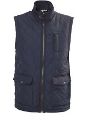 VEDONEIRE Mens NAVY QUILTED GILET (3034) blue SIZE S to 4XL sleeveless NEW
