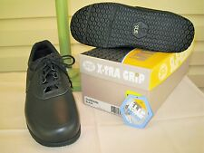 SAS Guardian Mens Black Leather Slip-Resistant Oxford Shoes NEW IN BOX