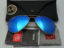 Ray Ban Aviator RB3025 112/4L Gold Blue Mirror POLARIZED Italy Pick Size & Case!
