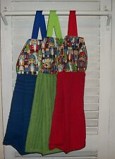 Nutcrackers Toy Soldiers Christmas Xmas Presents Hanging Kitchen Dishtowel HCF&D