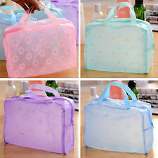 Girl New PVC Waterproof Floral Bathing Pouch Cosmetic Bag Toiletry Kits Bag T170