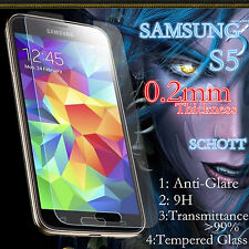 For Samsung S5 Screen Protector  Anti-Glare Schott Tempered0.15-0.2mm Glass Film