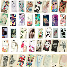 Magetic Cute Pattern Hard Skin Case Cover Back Protective For iPhone 5S 5 4S