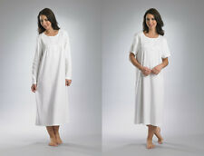 Ladies Slenderella Premium Quality, Pure Cotton, Short or Long Sleeve Nightdress