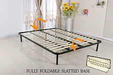 Slatted Folding Guest Bed/Bed Base in Small Double & Double Size - FREESTANDING