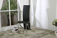 Faux Leather, Foam Padded Dining Chairs: Black,Brown,Cream,Red with Chrome Legs