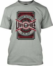Live Free Poster Fine Jersey T-Shirt