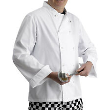 Polycotton Chefs Jacket Long Sleeves Press Studs Catering Whites Kitchen Cooks