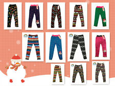 Girls Leggings Pants Warm Lining Thick Winter  2-8 Y Kids Trousers