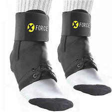 One Pair Ankle Brace Support Stabilizer Guard Palettes Black Neoprene New Xforce