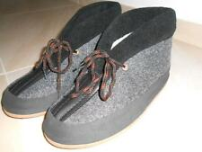 Mens Comfotable Soft Warm Shoes Sandal Slipper Black Sheep Wool Made in Poland