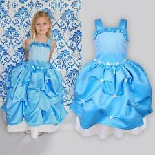 Fancy Kids Girls Dress Frozen Princess Queen Cosplay Costume Dress Elsa 3-8Y