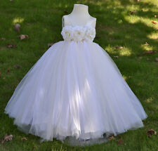 Flowers girl tutu pink, white, purple dress with tulle for wedding and birthday