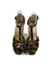 DE BLOSSOM COLLECTION  Womens US Size 8 , 8.1/2 Leopard Peep Toe Heels Shoes