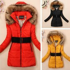 New Women's Padded Winter warm fur collar Jackets coat jacket parka down Coats