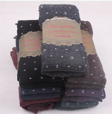 1 x Lady Snowflake Wool Over Knee Socks Thigh-Highs Hose Stockings Soft 5 Colors