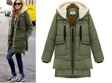 Hot Fashion Women's Winter Thicken Hooded white duck Down Military Jacket Coat