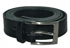 Big Mens Black King York Trouser Belt (NOT BONDED) Size 44 to 70 inches waist