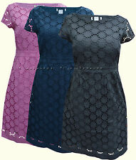 New White Stuff 8 - 18 Black Navy Pink Broderie Anglaise Lace Party Shift Dress