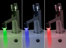 3Color changing RGB Water Tap Glow Shower LED Faucet Light Temperature Sensor