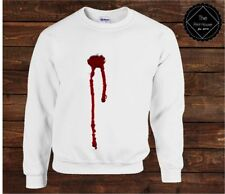 Gunshot Blood Sweater Top | Halloween Womens Mens Costume Spooky Fancy Dress Fun