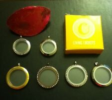 AUTHENTIC Origami Owl Living Lockets Lg crystal & chocolate w/fortune cookie