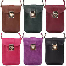 Women Universal Cell Phone Bag Shoulder Pocket Wallet Pouch Case With Neck Strap