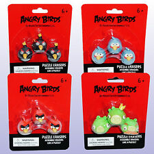 Angry Birds Puzzle Erasers - Black, Blue, Red, Pigs - NEW - Buy 2 Get 1 FREE
