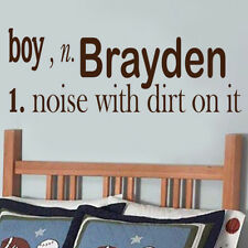 PERSONALIZED BOY DEFINITION with NAME VINYL WALL ART STICKER DECAL V53