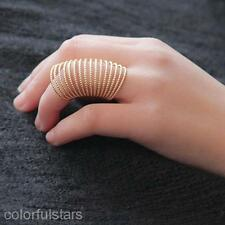 Women's Vintage Spring Ring Punk Fashion Alloy Metal Knuckle Joint Finger Ring