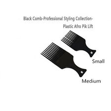 Black Comb-professional Styling Collection-plastic Afro Detangler Pik Lift 2 PCS