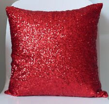 Purple/Silver/Blue/Sand/Pink/Red Gorgeous Sequins Pillow Case Cushion Cover 16""
