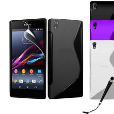 S Curve Gel Cover Case for Sony Xperia Z3 + SP & Stylus